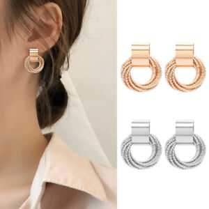 Multi-layer-Circle-Winding-Geometric-Round-Ear-Stud-Earrings-Jewelry-Gifts-Sexy
