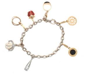 30ad6a0c52e03 Details about 18K Yellow & White Gold Cartier Bracelet W/ Cariter & Bulgari  Charms 36.34 Grams