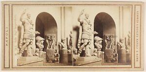 Museo Da Napoli Cesare Italia Foto Stereo PL48L3n1 Vintage Albumina c1865