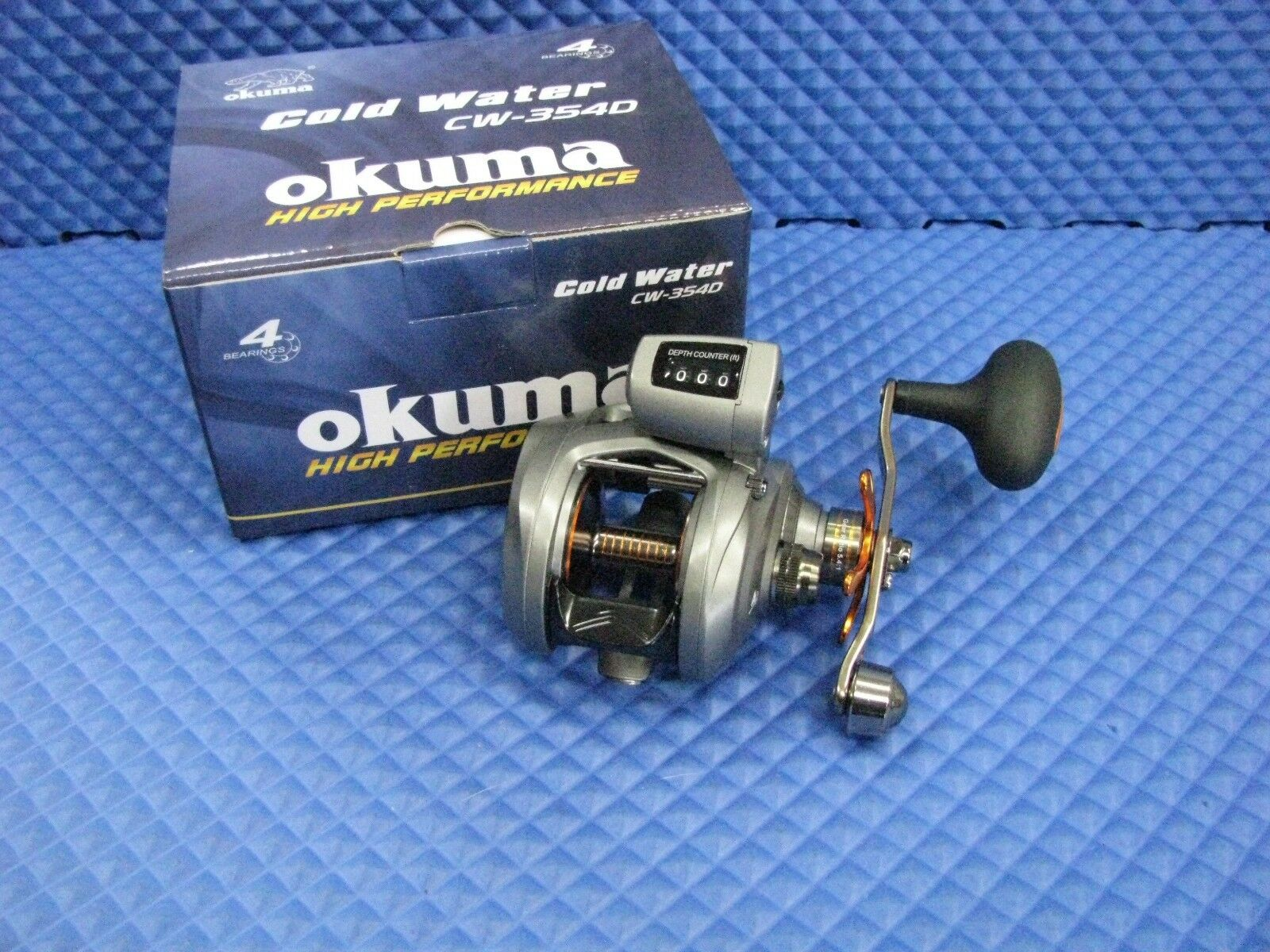 Okuma Cold Water Low Profile Line Counter Reel CW 354D New In Box