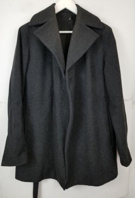 SISLEY Men s Jacket Coat Italy Gray Wool Blend Size Small  7d33c4ccd