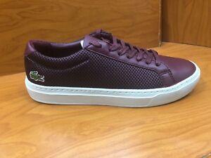 Lacoste-Men-039-s-Sneakers-L-12-12-LighterW418-Cam-Burgundy-Navy