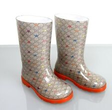 New Authentic Gucci Kids Rain Boot w/GG Star Print 20/US 4, 313913
