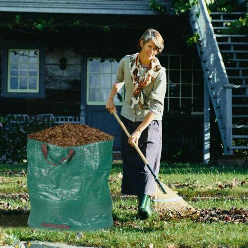 3 pcs Pack  80 Gallon Garden Leaf Bags Reusable Yard Lawn Waste Bag