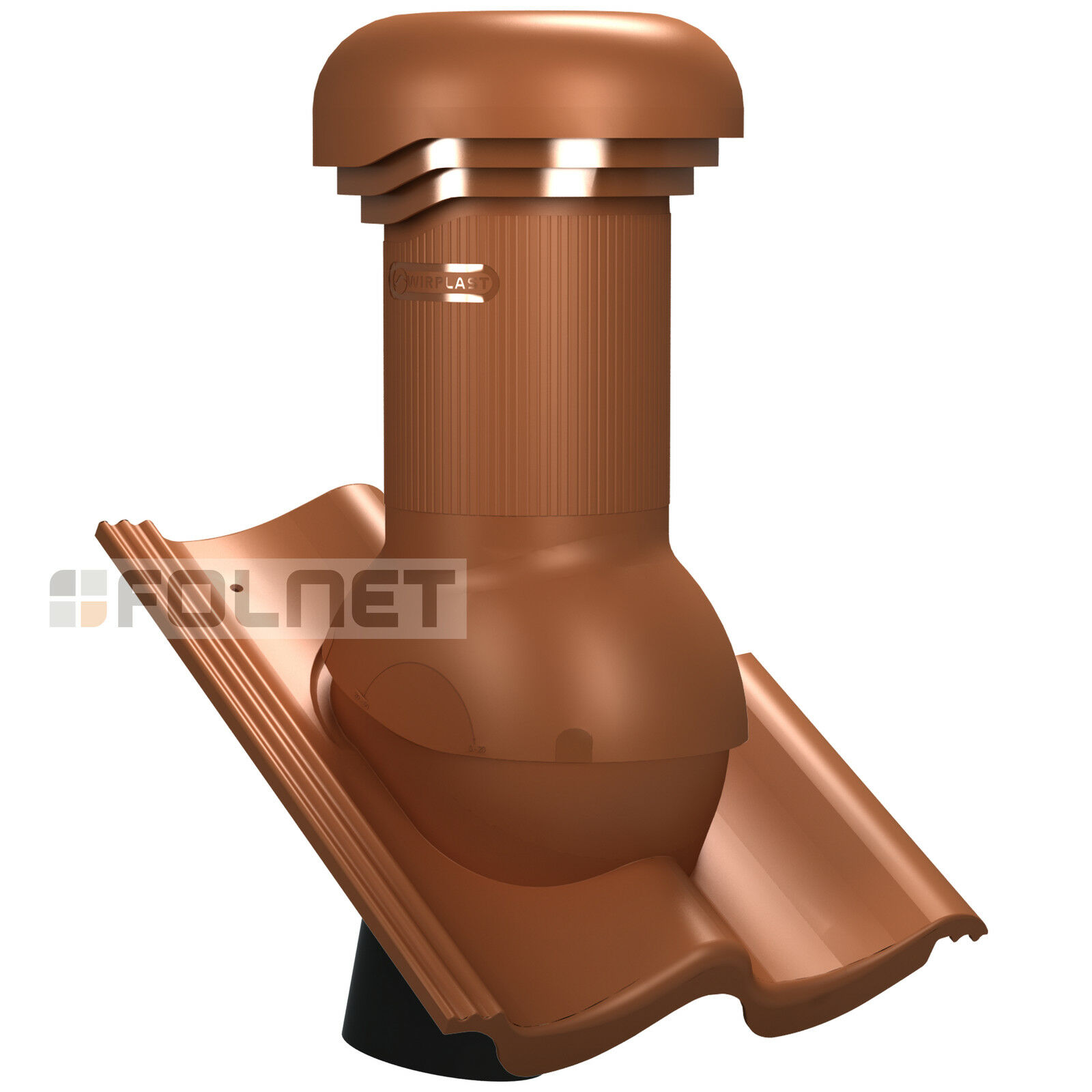 Entlüfterkamin PRO DN125 für ProDach Doppel-S Dachziegel Dachlüfter Entlüfter