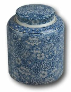 Festcool-Blue-and-White-Porcelain-Floral-Ceramic-Tea-Storage-Covered-Jar-Cont