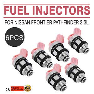 6x Fuel Injectors 166001800 For 1996-04 Nissan Frontier Pathfinder Xterra 3.3L