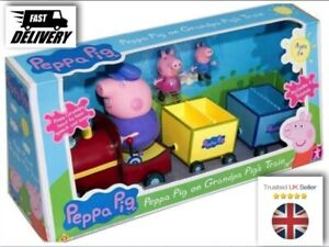 Peppa Pig grandpa train with George figure speech /& sound playset toy 3+