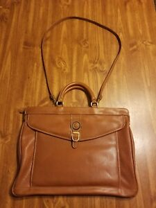 Image is loading Dolce-Vita-Handbag-Computer-Bag-Brown-Briefcase e2285016b0d9e