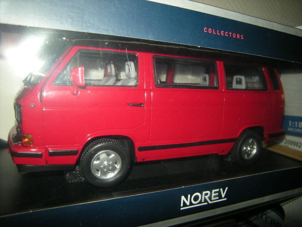 alta qualità 1 18 18 18 Norev VW t3 autobus rossoestrella IN SCATOLA ORIGINALE  vendita outlet online