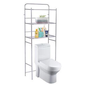 Image Is Loading GOPLUS Metal Over Toilet Storage Shelves  Freestanding Towel
