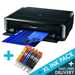 Details about Canon PIXMA iP7250 Wireless USB Wi-Fi Photo CD Printer + 1  set XL Inks Multipack