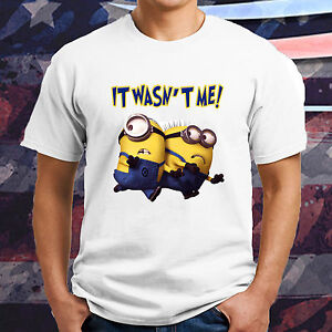 New Minions Funny Despicable Me Movie T Shirt Tee Humor It