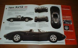 1966 Jaguar Xj13 Original Imp Brochure Specs Info 66 Xj 13 Pamphlet