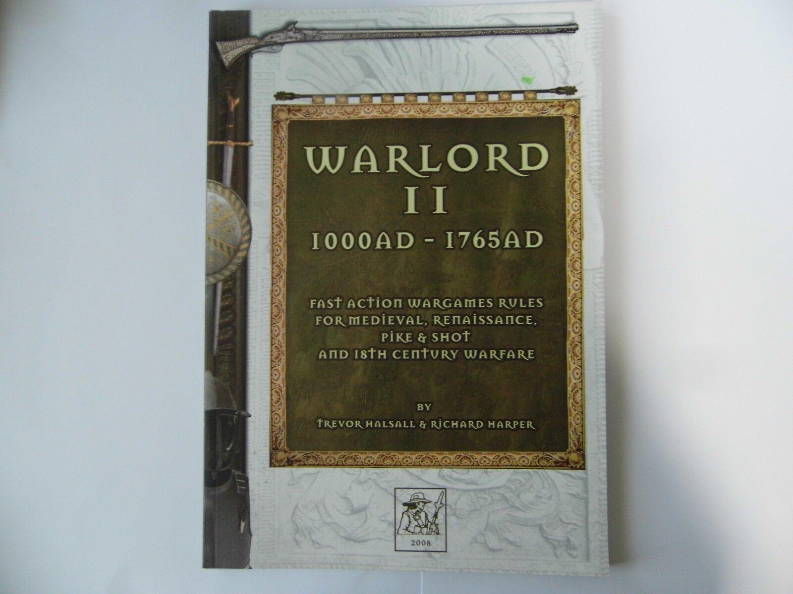 WARLORD II - 1000AD - 1765 AD - WARGAMES RULES - NEW