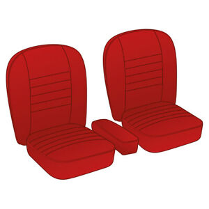 MGA-Coupe-Seat-Cover-set-Leather-Red-Red-piping-Pair-1955-1962-NEW-246-110