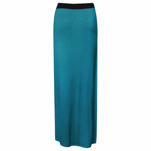 Womens Ladies Gypsy Long Jersey Bodycon Maxi Dress Ladies Skirt Size 8-20*jrsys