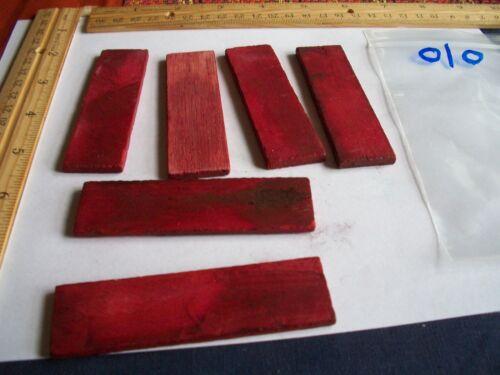"""3 Par Hueso teñido de rojo 31//2 x1x5//32 /""""de largo 010"""