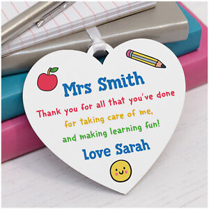 Teacher-Thank-You-Gift-PERSONALISED-Teacher-Assistant-Nursery-Heart-Plaque-Gifts