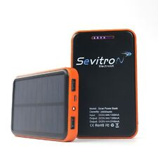 Power Bank Solar Panel 20000 mAh Ladegerät Zusatzakku Dual Handy Ipad Notebook