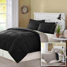 Comfort Classics Polaris Down Comforter Set Full Queen Black Gray