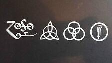 All 4 Led Zeppelin Runes Decal vinyl window sticker car truck jdm rock music