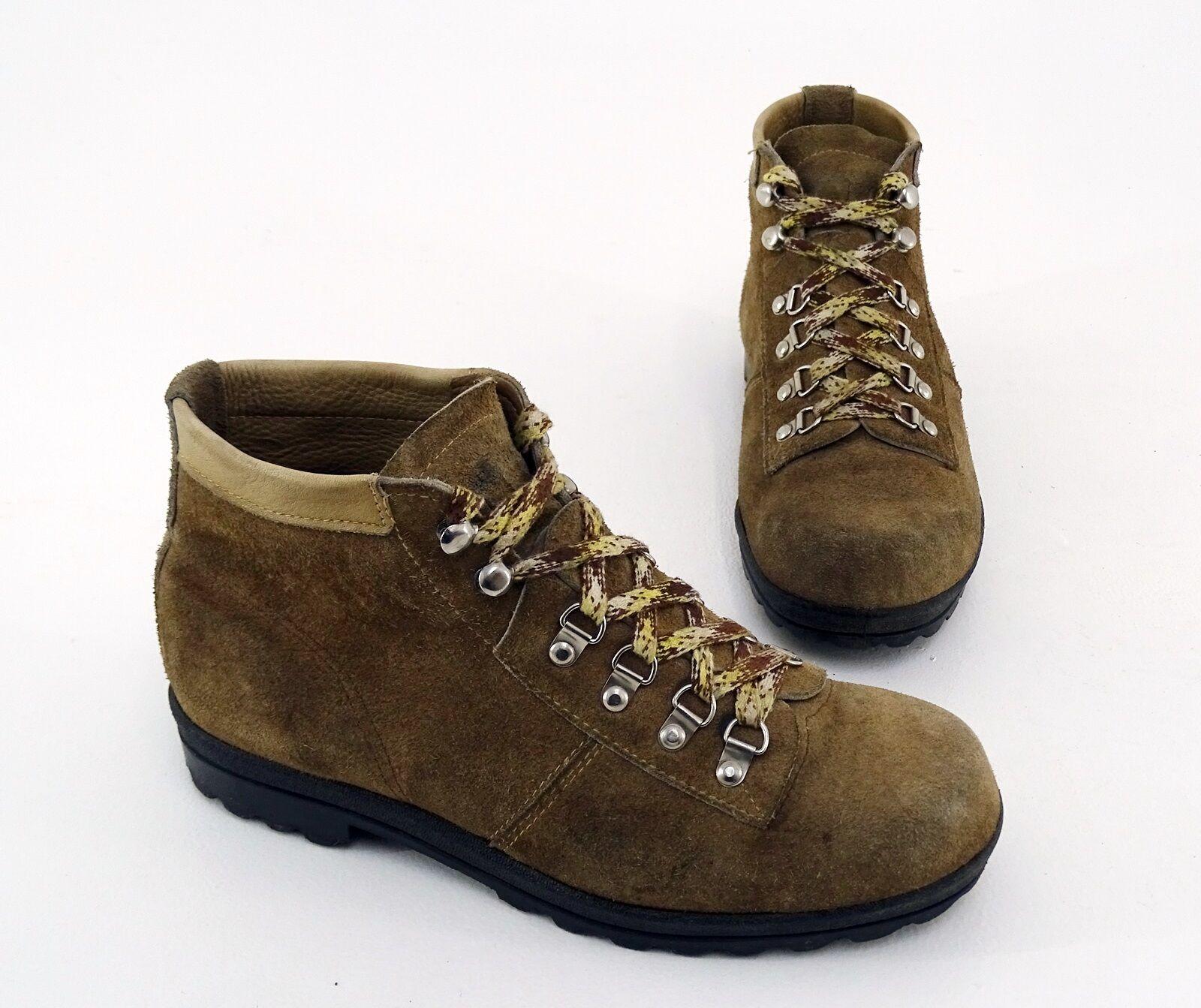 DDR Wanderschuhe Tourist Boots Outdoor  Echtleder brown Gr. 25 = 37,5
