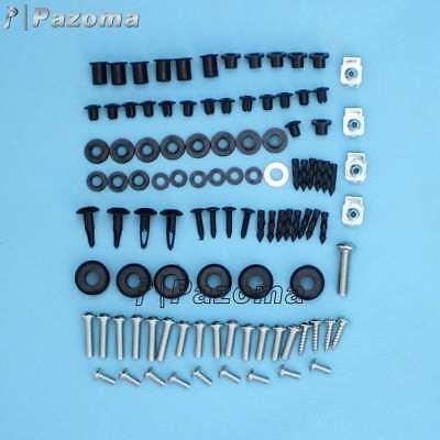 Fasteners Black Complete Motorcycle Fairing Bolt Kit Suzuki 2003-2004 GSX-R1000 Body Screws and Hardware Powersport Parts 2 U FBK-2046-BK