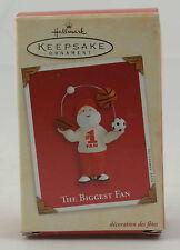 HALLMARK KEEPSAKE ORNAMENT ~ THE BIGGEST FAN (Santa Claus) ~ 2002 QX8733 ~ NEW