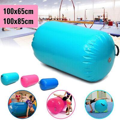 65x100cm//85x100cm Inflatable PVC Gymnastics Home Gym Air Mat Barrel Track Roller