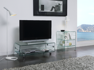 ct 220 dupen design tv tisch board rollen glas. Black Bedroom Furniture Sets. Home Design Ideas