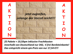 Bossen Building ab 25 Pak Verblender 9,00€//Pak! Steinriemchen Wandverblender