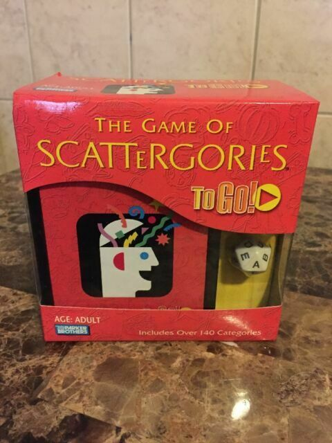 Scattergories To Go Adult Game Parker Brothers Travel Size 41809 For Sale Online Ebay