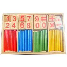 Baby Kinder Holz Mathematisch Intelligenz Stock Frühförderung Zählen Spielzeug