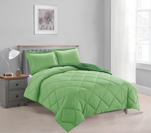 Down Alternative Comforter Set 7-PC Reversible ALL Season Bed In a Bag W// Sheets