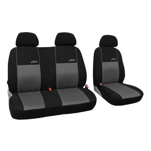 Universal Autositzbezüge Grau für Mercedes Sprinter I BUS 1+2 Vorne Schonbezug