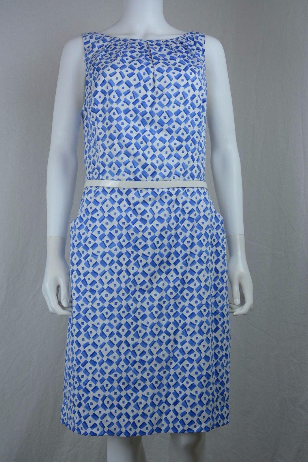 Women's Ralph Lauren size 14 bluee Belted Sleeveless Sheath Dress NEW NWT