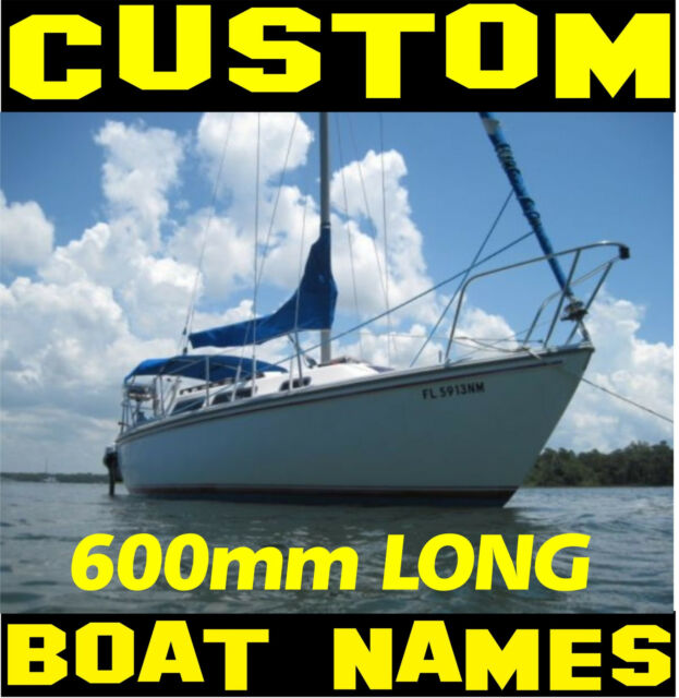 Custom Personal Boat Name Set 600mm VINYL CUT STICKER DECAL