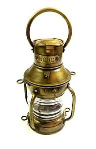 Antique-Anchor-Oil-Lamp-Vintage-Nautical-Maritime-Boat-Ship-Lantern-Boat-Light