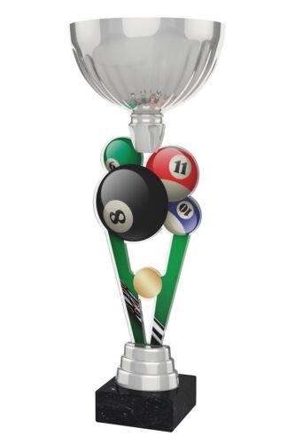 Gravure Gratuite Exclusif 330 mm Piscine Métal Acrylique Trophy Cup Silver ou GOLD