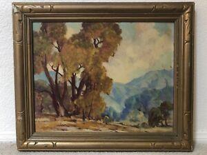 🔥 Antique California Plein Air Impressionist Oil Painting - Dorothy G. Baugh
