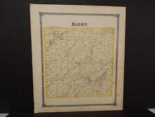 Illinois Grundy County Map Mazon Township  1874 Dbl Pg Q5#38