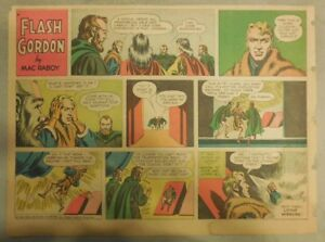 Flash Gordon Sunday Page by Mac Raboy from 11/25/1956 Half Page Size