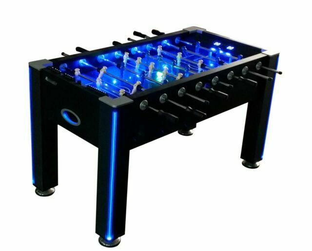 Foosball Table Atomic Azure Led Light Up Arcade Style Glow Game Room Lit Gift For Sale Online Ebay