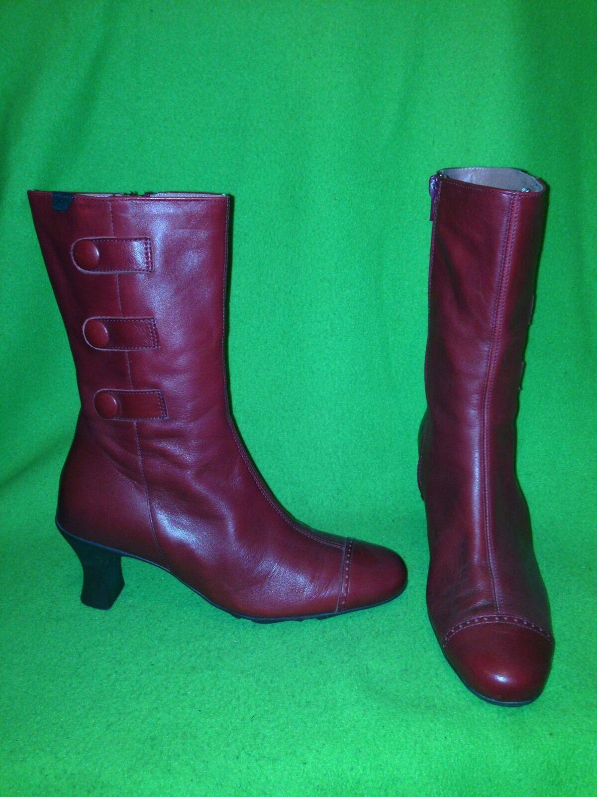 Red Camper Mid-Calf Boots 5.5 35