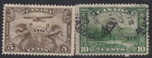 Canada-Airmail-1928-amp-Local-Motives-1928-10c