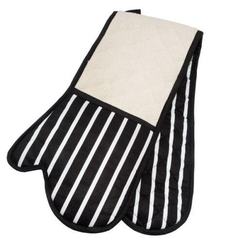 Brookes /& Mason Butchers Stripe Double Oven Glove