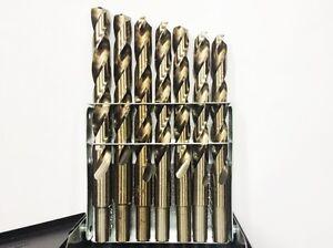 3-8-Cut-Down-Shank-USA-Index-29pc-Drill-Bit-Set-Cobalt-Multi-Drill-Bit-Set