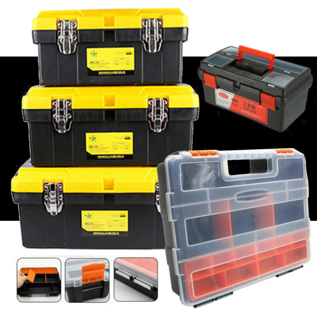 Protable Toolbox Plastic Work Tools Screw Storage Boxes Holder Organizer Case