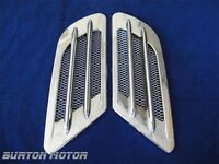 Universal Fit Auto Air Flow Fender Mesh Hood Side Vent Chrome-r5